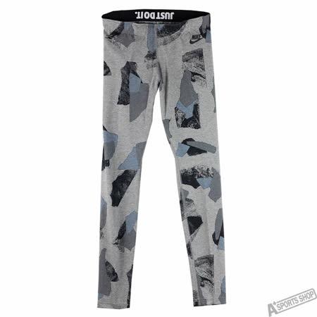 NIKE 女 W NSW LEG-A-SEE LGGNG AOP2 棉褲 灰/黑 -824350021