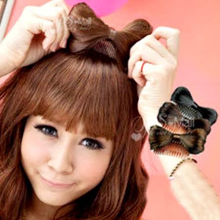 【PS Mall】vivi雜誌 造型配件 蝴蝶結假髮髮梳 髮夾髮插 (P022)
