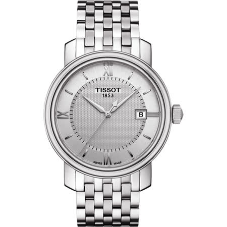 TISSOT Bridgeport 寶環系列經典石英腕錶-銀/40mm T0974101103800