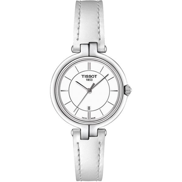 TISSOT Flamingo 純粹石英女錶~白26mm T0942101601100