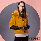 【YIDIE衣蝶】羊毛飛鼠袖口袋短版外套