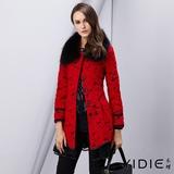 【YIDIE衣蝶】立體羊毛蕾絲長版大衣