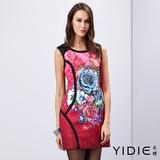 【YIDIE衣蝶】中國風彩亮壓花棉質洋裝