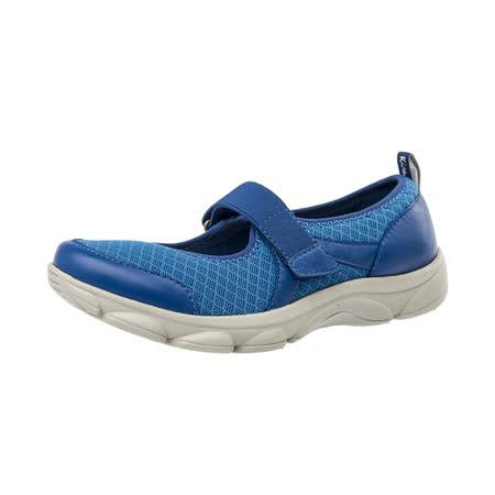 【Kimo德國手工氣墊鞋】繫帶舒適彈性輕量休閒平底鞋(湖水藍K16WF054016)