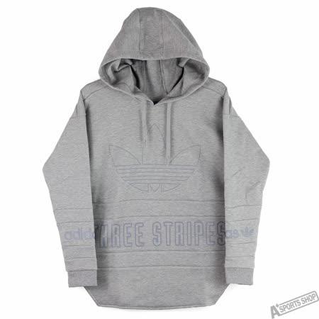 adidas 女 HOODIE 帽T 愛迪達 灰 -AY6697