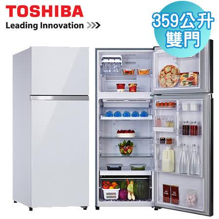 [促銷] TOSHIBA東芝 359L雙門變頻玻璃鏡面冰箱(GR-TG41TDZ)含基本運送+拆箱定位+回收舊機