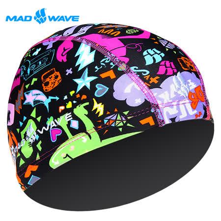 俄羅斯MADWAVE兒童萊卡彈性泳帽MONSTERS(送耳塞)