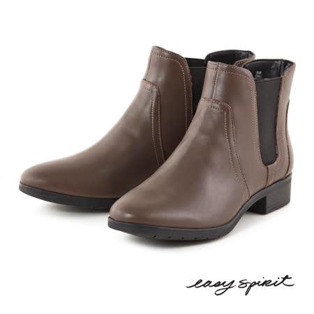 Easy Spirit--素雅低跟短靴--簡約咖