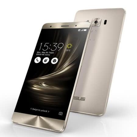 ASUS ZenFone 3 Deluxe (ZS570KL) 5.7吋4G全頻雙卡機(4G/32G版)-贈專用皮套+9H鋼化玻璃保貼+韓版收納包+手機/平板支架
