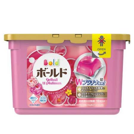 (任選)【日本寶僑P&G】洗衣凝膠球(粉色-牡丹花香)盒裝(352g/18顆)