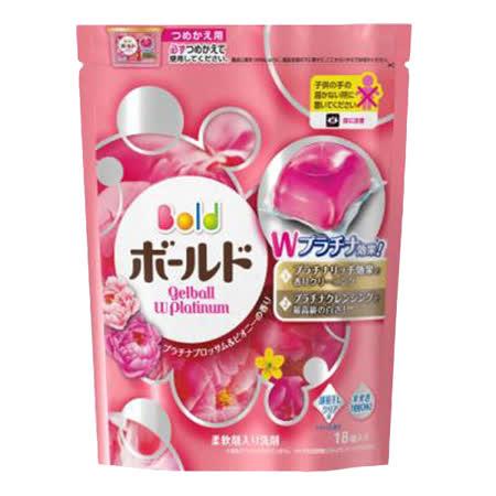 (任選)【日本寶僑P&G】洗衣凝膠球(粉色牡丹花香)補充包(352g/18顆)