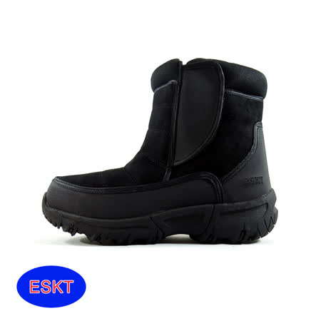 ESKT 男短筒雪鞋SN217/城市綠洲(雪靴 防潑水 防雪 刷毛 麂皮 冰爪)