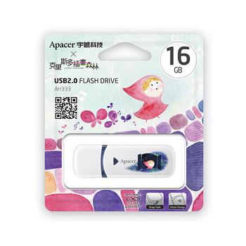 Apacer宇瞻 AH333 16GB USB2.0 克里斯多聯名款隨身碟-轉折--加送克里斯多矽膠杯墊