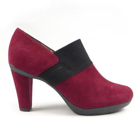 GEOX-D INSPIRATION 靴子 羊皮/布料 酒紅