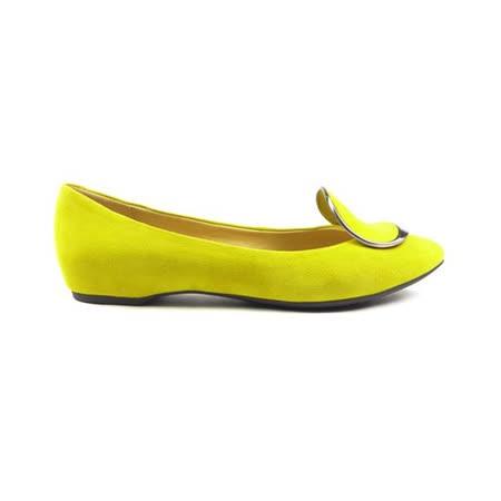 GEOX-D LESLIE H 仕女鞋 羊皮 黃色