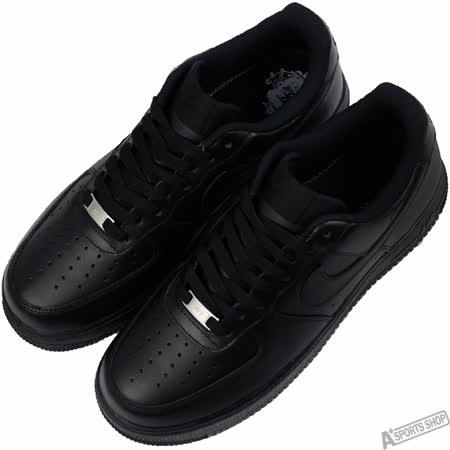 NIKE 男 AIR FORCE 1 07 LE 復古鞋 黑 -315122001