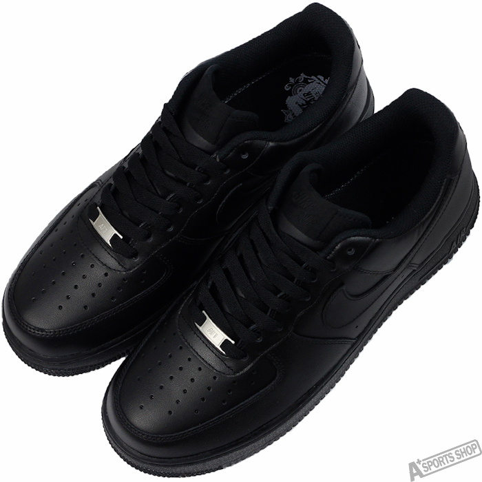 NIKE 男 AIR FORCE 1 07 LE 復古鞋 黑 -315122001