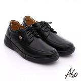 A.S.O 超能耐 綁帶羊皮寬楦奈米皮鞋