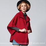 【ohoh-mini孕婦裝】米蘭時尚斗篷針織孕婦外套