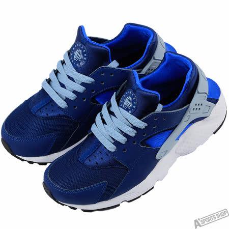 NIKE 女 HUARACHE RUN GS 復古鞋 藍 -654275406