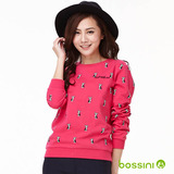 bossini女裝-印花運動衫03亮桃紅