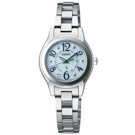 SEIKO LUKIA 甜蜜戀人太陽能腕錶-快樂藍/25mm V111-0CA0B(SSVR071J)