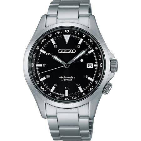 SEIKO 6R15精工23石 商務機械腕錶-黑/40mm 6R15-02N0D(SARG003J)
