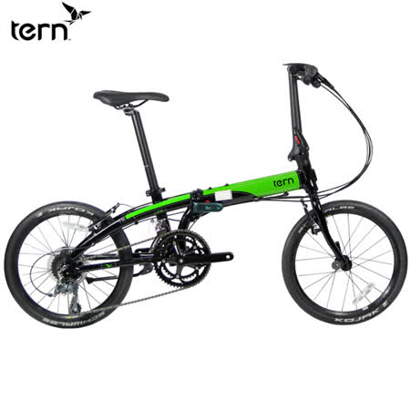 Tern Link D16 鋁合金20吋16速折疊單車-黑底綠標