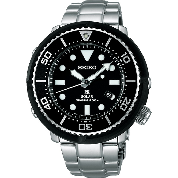 SEIKO 精工 Prospex SCUBA 鮪魚罐頭太陽能 腕錶 V147~0AX0D^