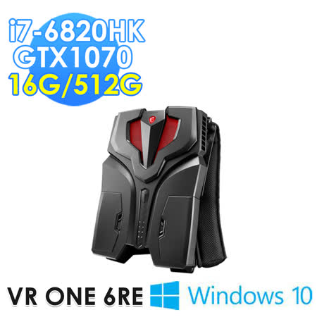 msi微星 VR ONE 6RE-001TW i7-6820HK GTX1070 WIN10 背包PC