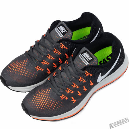 NIKE 男 AIR ZOOM PEGASUS 33 慢跑鞋 黑/橘 -831352003