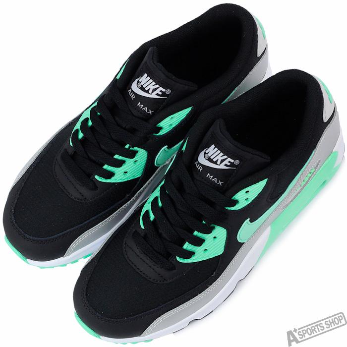 NIKE 女 AIR MAX 90 MESH GS 復古鞋 黑綠 ~833340003