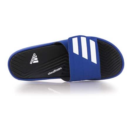 (男) ADIDAS 運動拖鞋-游泳 海邊 海灘 休閒 愛迪達 藍黑白
