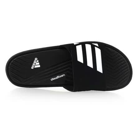 (男) ADIDAS 運動拖鞋-游泳 海邊 海灘 休閒 愛迪達 黑白