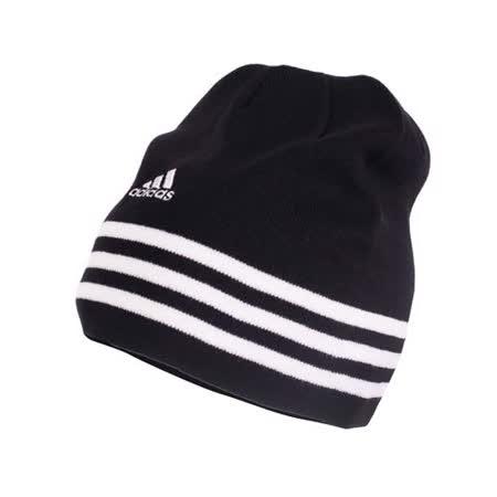 ADIDAS 針織帽-毛帽 運動 帽子 愛迪達 黑白 F