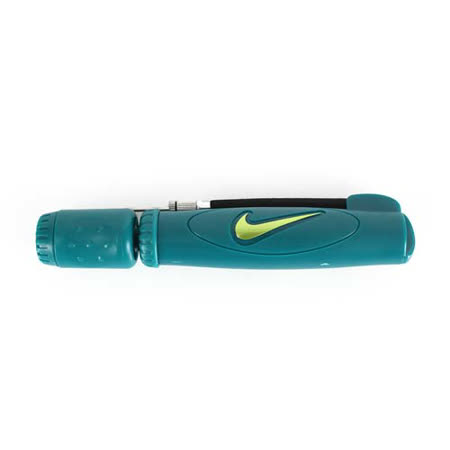 NIKE 打氣筒-籃球 足球 排球 躲避球 隨身 攜帶型 墨綠螢光綠 F