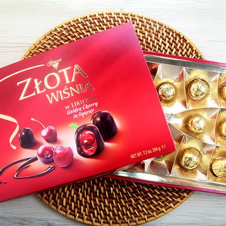 波蘭華麗 櫻桃酒巧克力禮盒204g