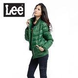 Lee 都市騎士 輕量羽絨拉鍊保暖外套-男款(綠)