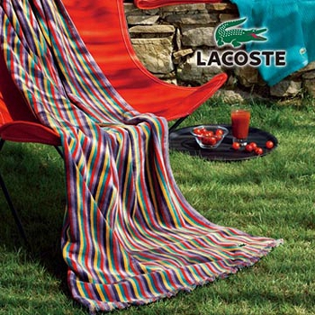 【LACOSTE】-RIVAGE-休閒海灘巾