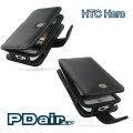 HTC Hero A6262 英雄機專用PDair高質感PDA手機皮套-黑色