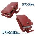 HTC Hero A6262 英雄機專用PDair高質感PDA手機皮套-紅色