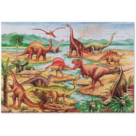 地板拼图 - 史前恐龙【48 片】- 特大尺寸,成就感加倍-美国玛莉莎 图片