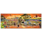 美國 Melissa & Doug 大型地板拼圖 - 非洲草原【100 片】特大尺寸,成就感加倍