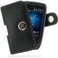 HTC Touch VIVA 專用PDair高質感腰掛橫式PDA手機皮套(黑色)