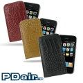 Apple iPhone 3G 3GS 專用PDair高質感手拿直立式皮套(鱷魚皮系列)