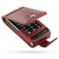 LG KU990 Viewty 專用PDair高質感上掀式PDA手機皮套(鱷魚皮紅)