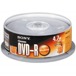 SONY DVD-R 16X 燒錄片(25片)