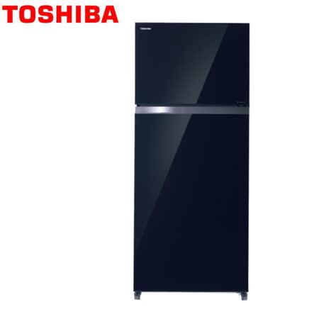 [促銷] TOSHIBA東芝 468公升變頻無邊框玻璃電冰箱GR-HG52TDZ(XK)雅典黑 /含基本運送+拆箱定位+回收舊機