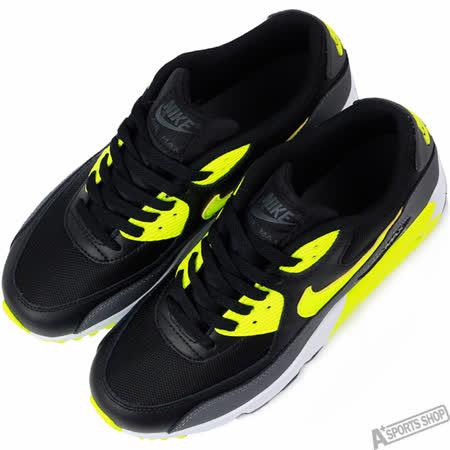 NIKE 女 AIR MAX 90 MESH GS 復古鞋 黑/黃 -833418006