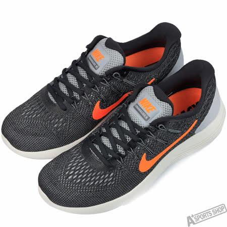 NIKE 男 LUNARGLIDE 8 慢跑鞋 黑/橘 -843725009